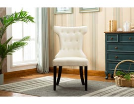 Kwality Furniture Erica Collection Accent Chair (Set of Two) with Black Handle in Beige YD-200