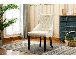 Kwality Furniture Pansy Collection Accent Chair in Beige- Set of 2 YD-300