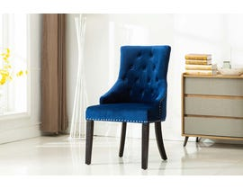 Kwality Furniture Pansy Collection Accent Chair (Set of Two) in Blue YD-300