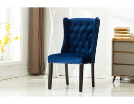 Kwality Furniture Mila Collection Accent Chair (Set of Two) with Black Handle in Blue YD-400