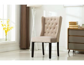Kwality Furniture Mila Collection Accent Chair (Set of Two) with Black Handle in Grey YD-400