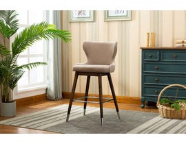 Kwality Furniture Cecy Collection Bar Stool (Set of Two) in Grey YD-500