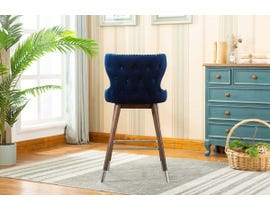 K LIVING Pansy Accent Chairs in Blue YD-500-BL (Set of 2)