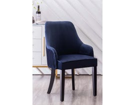 K Elite Yolda Fabric Accent Chairs in Blue with Silver Nailheads & Handle at Back (Set of 2) YD-900-BL