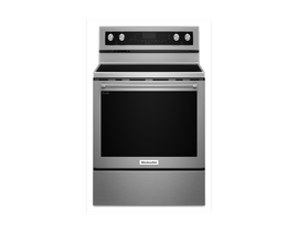 KitchenAid 30 inch 6.4 cu.ft. 5 element electric convection range in stainless steel YKFEG500ESS