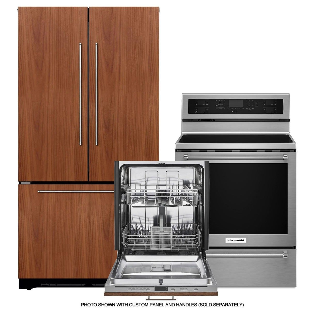 KitchenAid Panel Ready Built In Kitchen Appliances Bundle  UDT555SBDP/KFC022EVBL/YKFEG500ESS