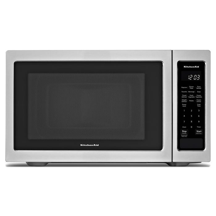 KitchenAid 21 3/4-inch 1.6 cu.ft Countertop Microwave in Stainless Steel YKMCS1016GS