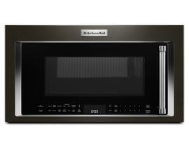 KitchenAid 1.9 Cu. Ft. Black Stainless Steel with PrintShield™ Finish Convecton Over-the-Range Microwave with High-Speed Cooking YKMHC319EBS
