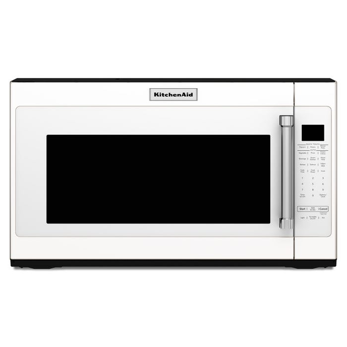 KitchenAid 30 inch 2.0 cu.ft. 950-Watt over-the-range microwave with 7 sensor functions in white YKMHS120EW