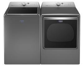 Maytag Top Load Laundry Pair in metallic slate MVWB865GC-YMEDB855DC