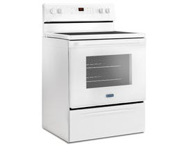 Maytag 30 Inch 5.3 cu.ft. Freestanding Electric Range in white YMER6600FW