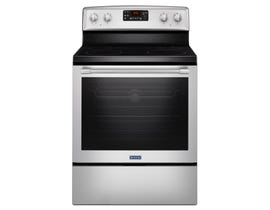 Maytag 30 inch 6.4 cu.ft. fan convection electric range in stainless steel YMER8650FZ
