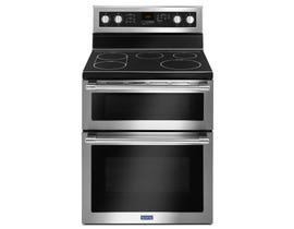 Maytag 30 Inch 6.7 Cu. Ft. Double Oven Electric Range With True Convection in stainless steel YMET8800FZ