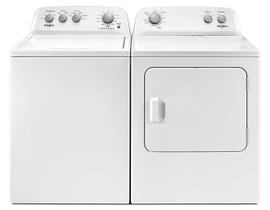 Whirlpool Top Load laundry Pair in white WTW4855HW-YWED4850HW