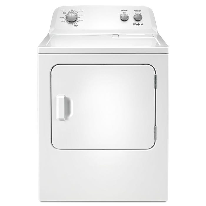 Whirlpool 29 inch 7.0 cu. ft. Top Load Electric Dryer with AutoDry in white YWED4850HW