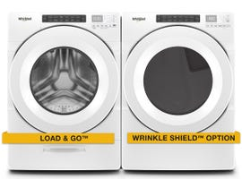Whirlpool Front Load Washer and Dryer Appliance Bundle in White WFW5620HW/YWED5620HW