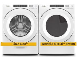 Whirlpool Laundry Pair 5.2 cu. ft. Washer WFW5620HW & 7.4 cu.ft. Electric Dryer YWED5620HW