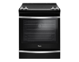 Whirlpool 30 inch 6.4 cu.ft. Slide-In Electric Range with True Convection in black YWEE745H0FE