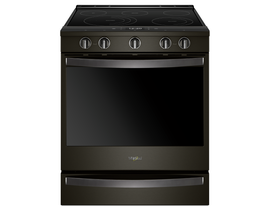 "Whirlpool 30"" 6.4 cu. ft. Smart Slide-In Electric Range in Black Stainless Steel YWEE750H0HV"