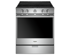 "Whirlpool 30"" 6.4 cu. ft. Smart Slide-In Electric Range in Stainless Steel YWEEA25H0HZ"