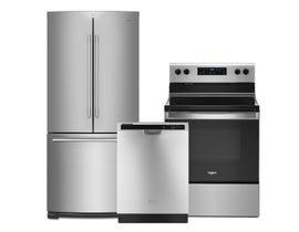 Whirlpool 3 pc Kitchen Appliance combo (2020 models) YWFE515S0JS WDF540PADM WRFA60SFHZ