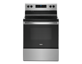 Whirlpool 30 inch 5.3 cu. ft. Free Standing Electric Range in Stainless Steel YWFE515S0JS