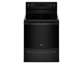 "Whirlpool 30"" 5.3 cu. ft. Electric Range with Fan Convection Cooking in Black YWFE550S0HB"