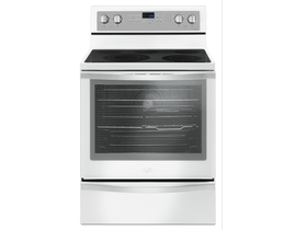 Whirlpool 30 inch 6.4 cu. ft. Free Standing Electric Range with True Convection in White Ice YWFE745H0FH