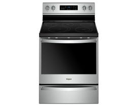 Whirlpool 30 inch 6.4 cu. ft. Free Standing Electric Range with Frozen Bake Technology in Stainless Steel YWFE775H0HZ