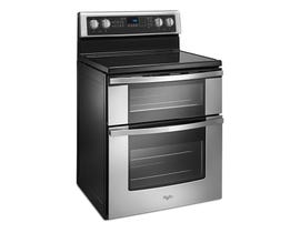 Whirlpool 30 inch 6.7 cu.ft. Electric Double Oven Range with True Convection in stainless steel YWGE745C0FS