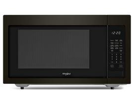 Whirlpool 21 inch 1.6 Cu.ft. 1100 Watt Countertop Microwave in Black Stainless YWMC30516HV