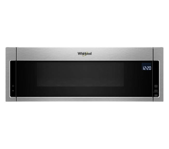 Whirlpool 30 inch 1.1 cu. ft. Low Profile Microwave Hood Combination in Stainless Steel YWML75011HZ