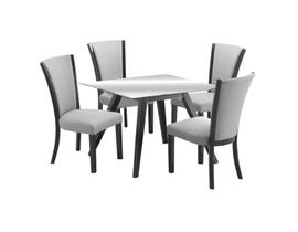 Zuma Series 5Pc Dining Set in Grey/Black D4042