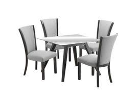 Zuma Series 5Pc Dining Set in Grey/Black D4042